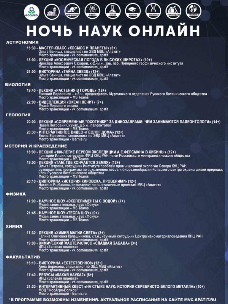 Афиша Ночь наук онлайн 2020